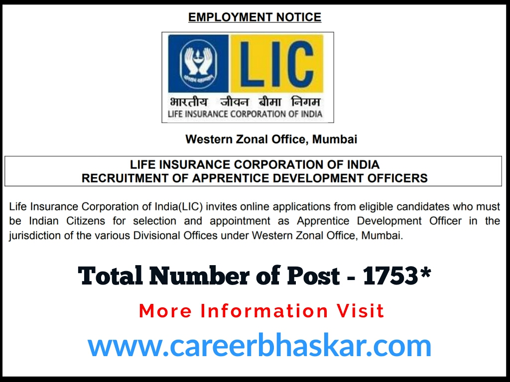 LIC - Apprentice Development Officer (ADO) Recruitment 2019