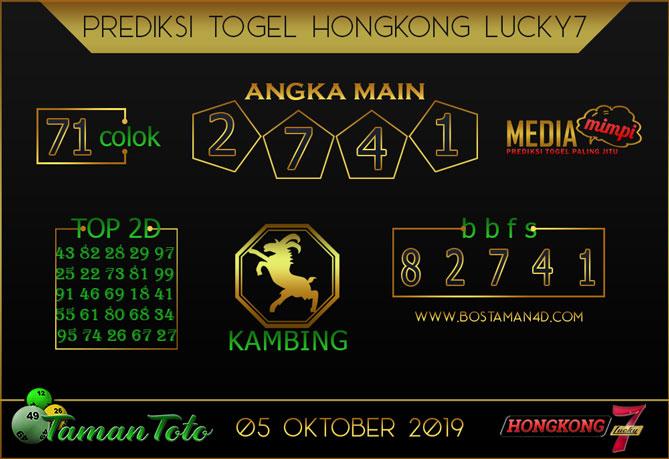 Prediksi Togel HONGKONG LUCKY 7 TAMAN TOTO 05 OKTOBER 2019