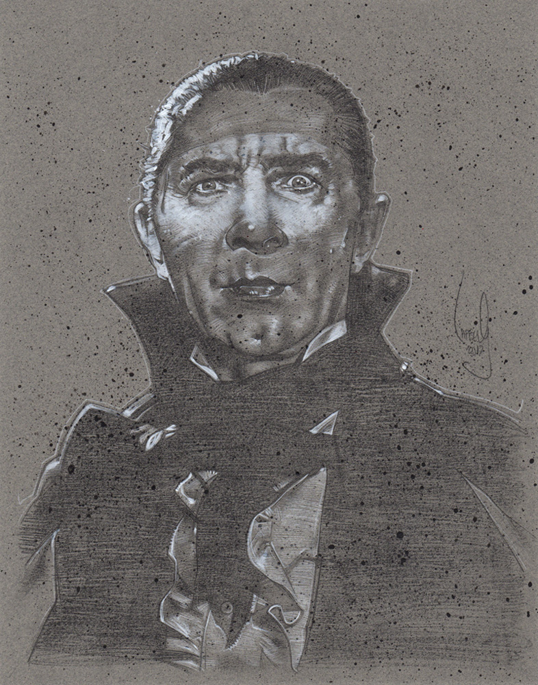Bela Lugosi as Dracula, Artwork© Jeff Lafferty