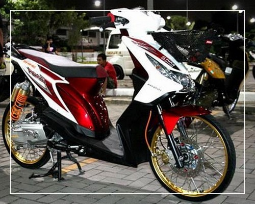 referensi modifikasi motor matic beat fi