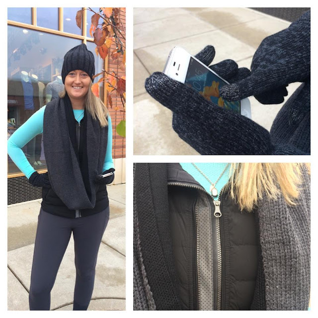 lululemon blissed out scarf gloves