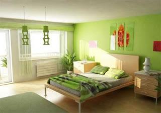 Dormitorio verde moderno