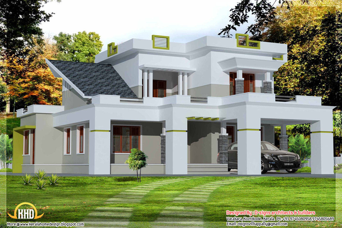 2500 3 bedroom contemporary house kerala home for 3 bedroom house