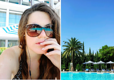 Gucci Sunglasses & The Pool of the Hilotn in Athen