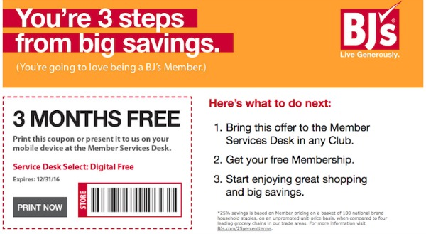 BJ's Wholesale Club Membership Coupon featured on Walking on Sunshine