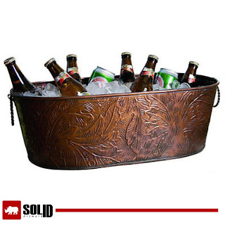 Copper Party Tub Beverage Ice Bucket