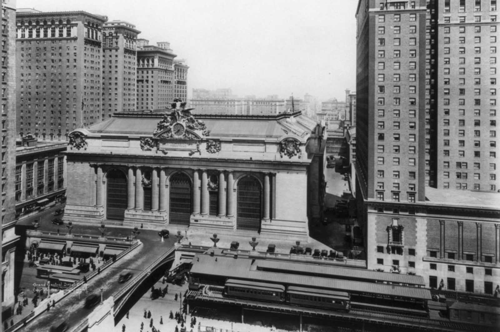 Grand Central Terminal, at Vanderbilt Ave and 42nd St., ca 1919.