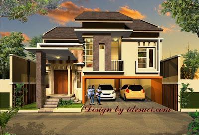 51 Desain Rumah Minimalis Garasi 2 Mobil HD Terbaik