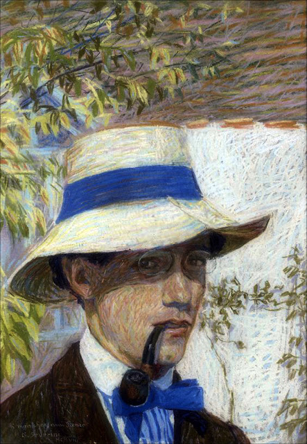 Gino Severini, Self Portrait, Portraits of Painters, Fine arts, portraits of painters blog, Paintings of Gino Severini, Painter Gino Severini