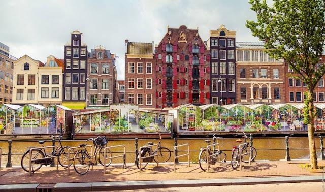 Informações sobre o Mercado de flores flutuante em Amsterdã