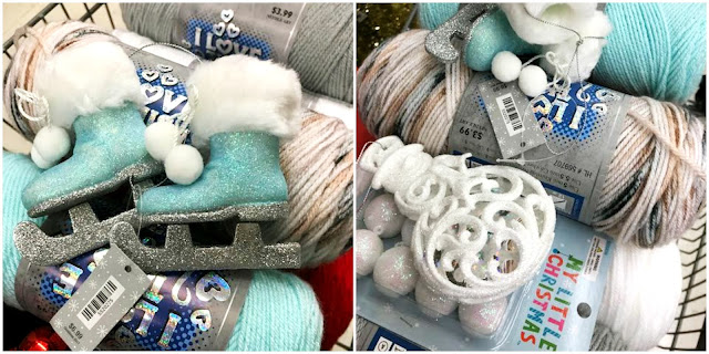 blue, red, gray, yarn, Winter, Christmas