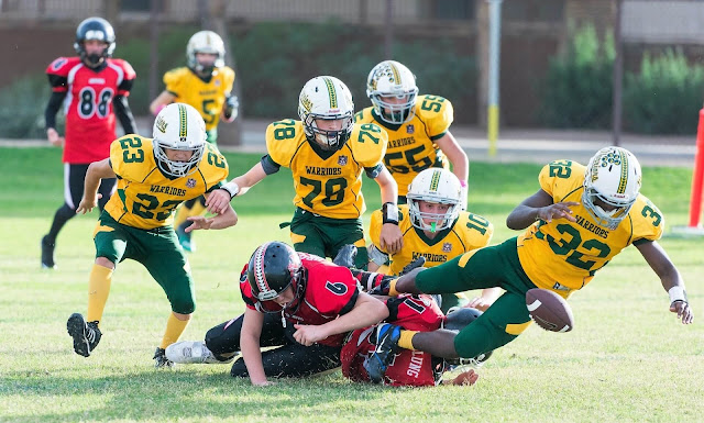 metamora herald football kids