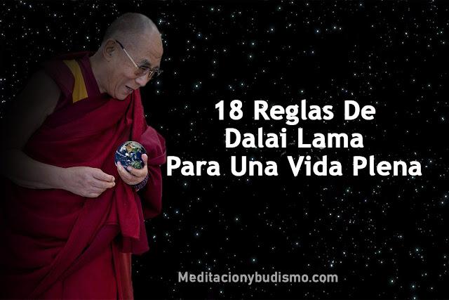 Dalai Lama y sus 18 Reglas para una vida plena