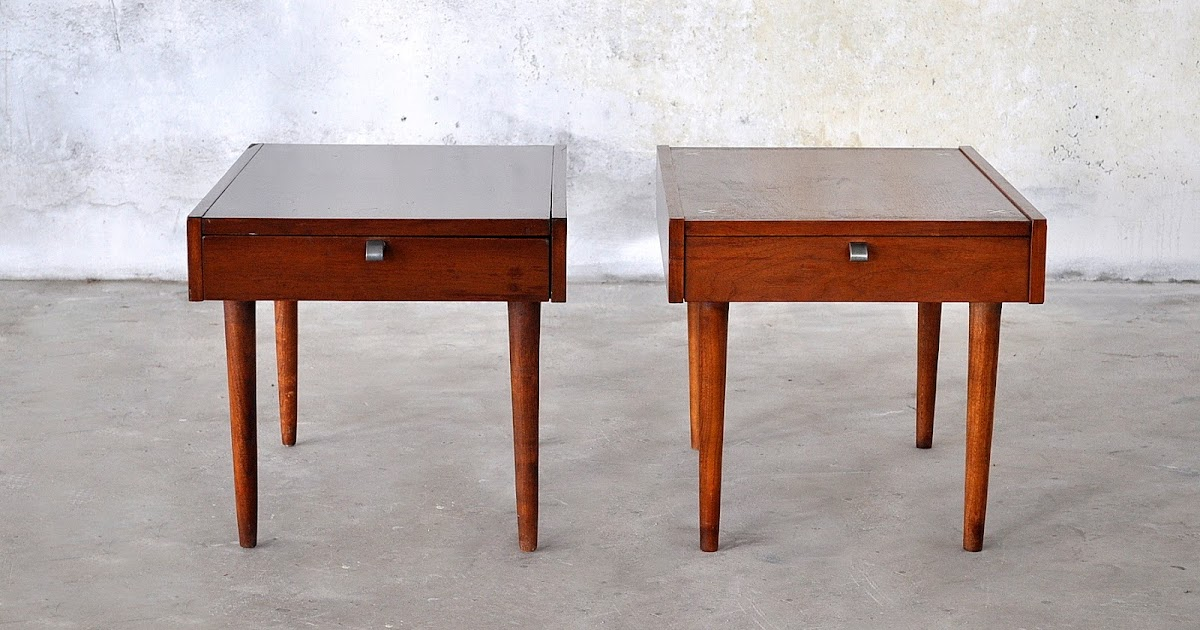Make A Modern Side Table: SELECT MODERN: Pair Of Mid Century Nightstands, Beside
