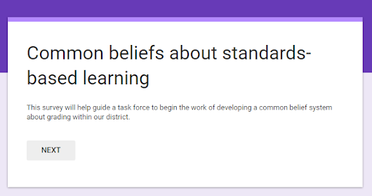 Common beliefs about grading and reporting.