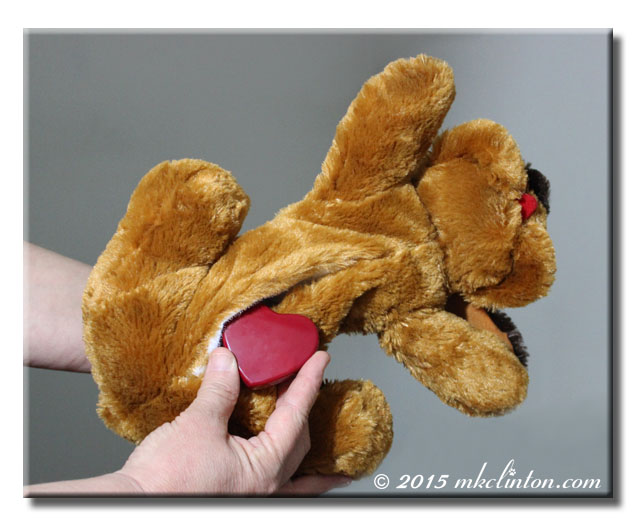 Snuggle Puppy showing where to insert additional heartbeat