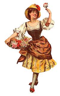 fashion dress image antique illustration