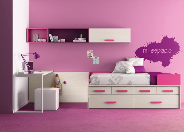 Muebles ros kids up 2 for Camas con cajones y otra cama