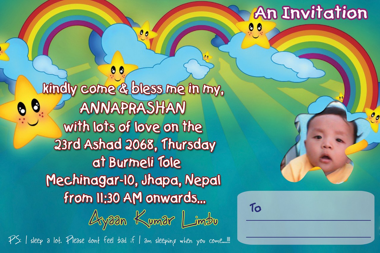 Annaprasan Invitation Card Matter In Bengali Invitationjpg Com