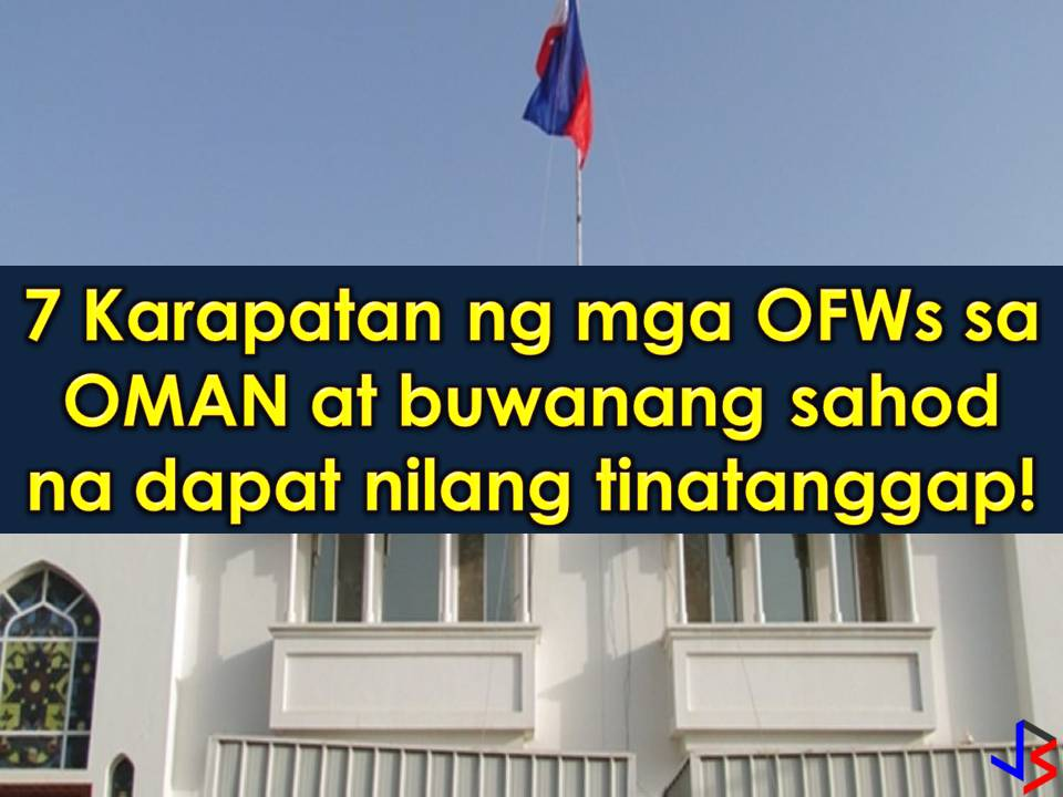 Oman is another country in the Middle East that is hiring Filipino workers every month. But don't you know how much Overseas Filipino Workers (OFWs) earn in that country per month?