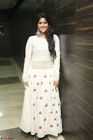 Megha Akash in beautiful White Anarkali Dress at Pre release function of Movie LIE ~ Celebrities Galleries 059.JPG