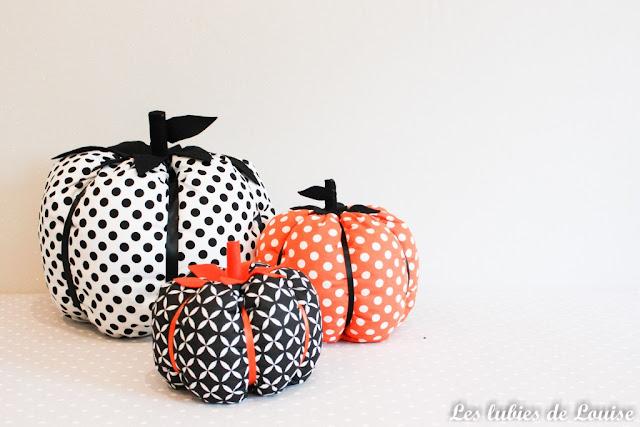 citrouille en tissu pour halloween