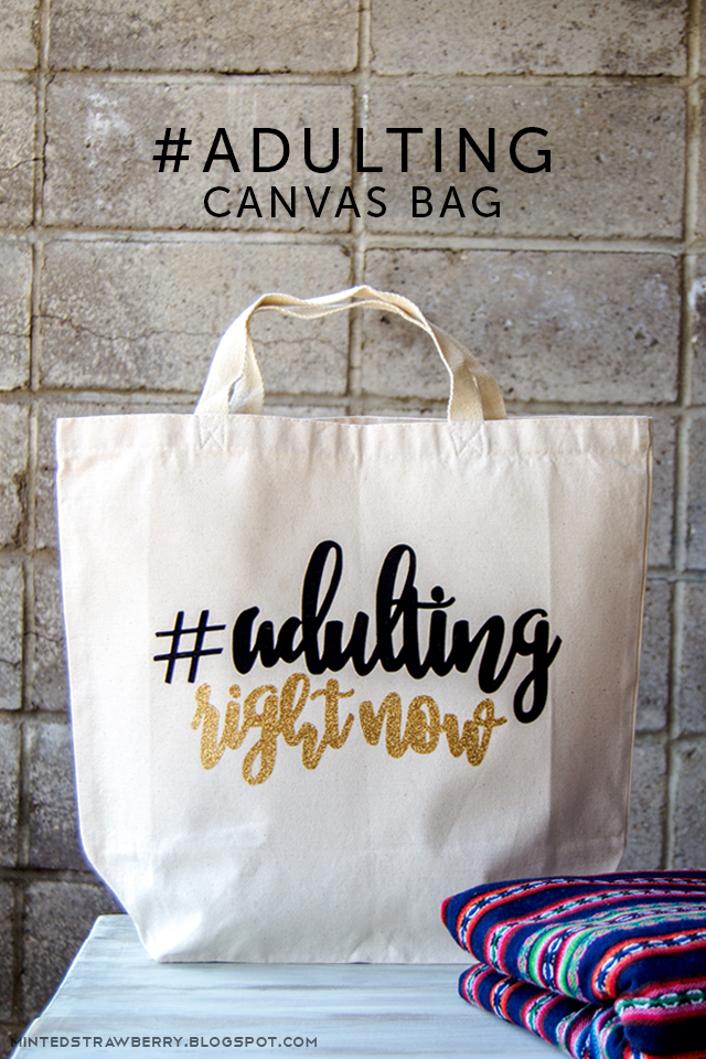 adulting right now canvas bag main