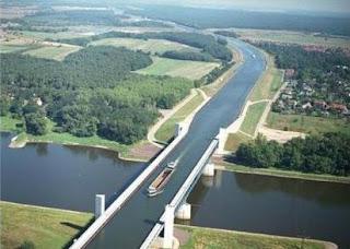 Puente acuífero de Magdeburgo (Alemania)