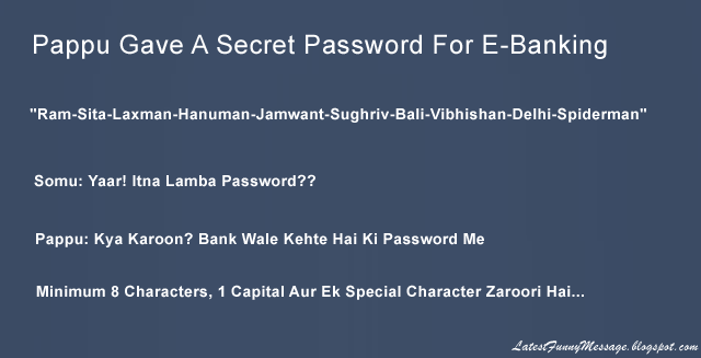 Password Joke on Pappu