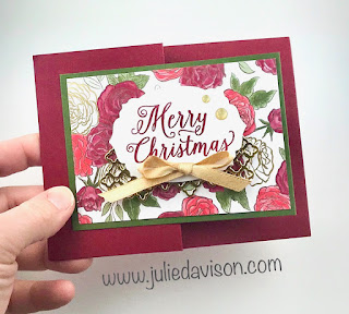 Stampin' Up! Christmastime Is Here Double Z Fold Card ~ www.juliedavison.com