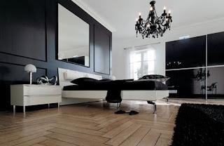 Decoración dormitorio blanco negro