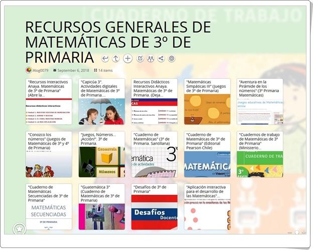 """""""14 RECURSOS GENERALES DE MATEMÁTICAS DE 3º DE PRIMARIA"""""""