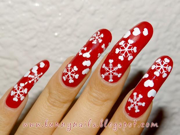 bunny nails merry christmas nice