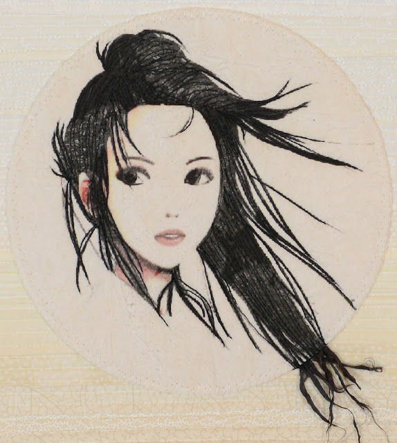 Art Quilt and Ikebana - Nathalie Tamborini (Quilt detail)