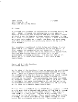 Kaminski To Klotz Letter Re Echo Flight & UFOs (1) 2-1-1997