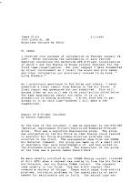 Kaminski To Klotz Letter Re Echo Flight & UFOs (1) 2-1-1997