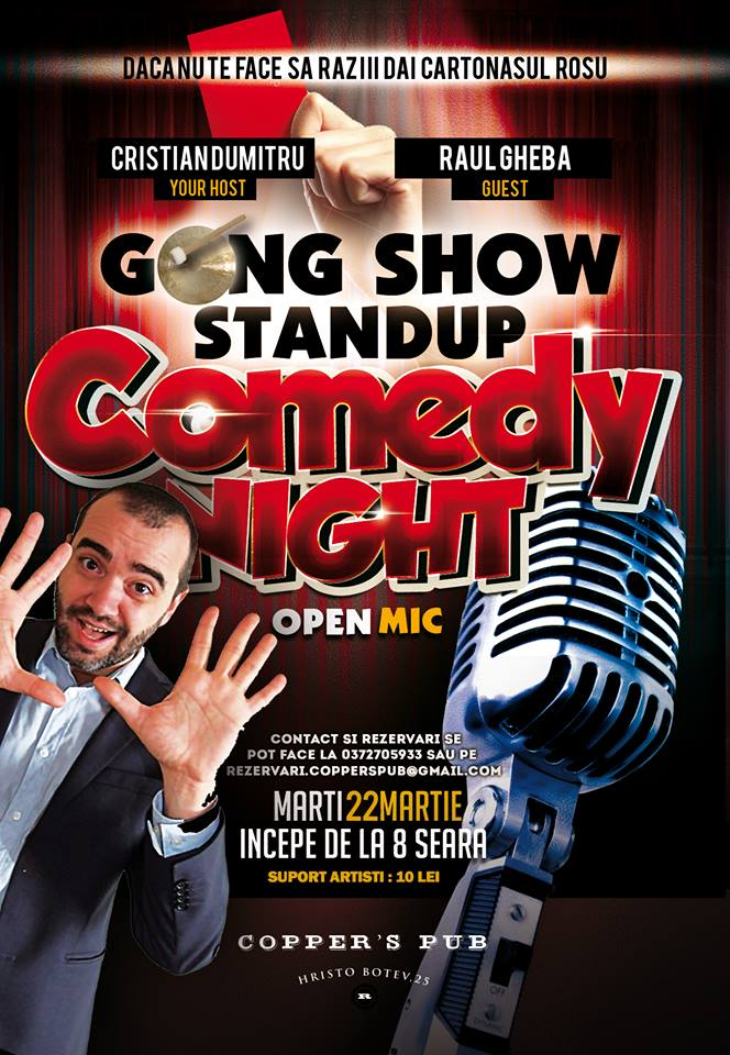 Stand-Up Comedy marti 22 martie (spectacol concurs)