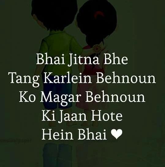 Sister and Brother Love Quotes in Urdu   Best Urdu Poetry ...