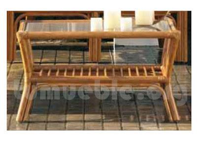 mesa de centro hecho en rattan natural j240