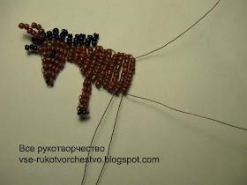 Все РукоТворчество: Простая лошадка из бисера для начинающих