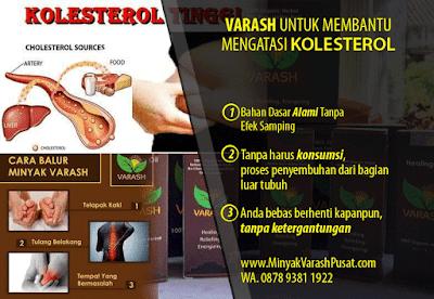 cara menggunakan minyak varash untuk kolesterol