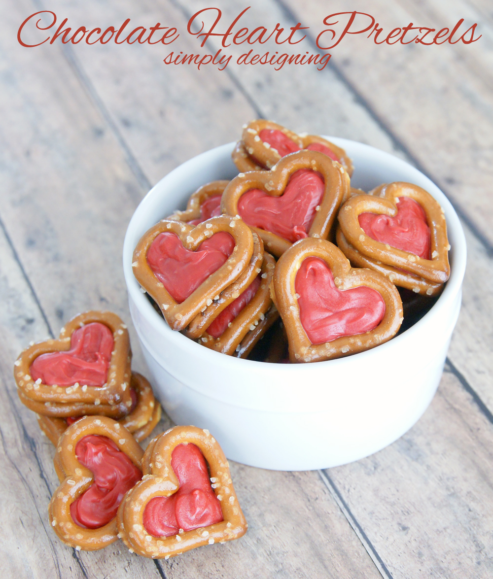 Chocolate Heart Pretzels