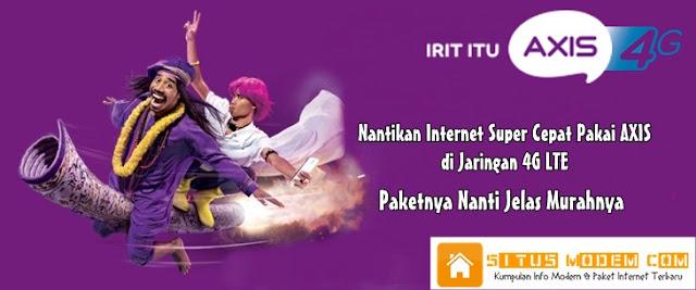 Horeee Internet 4G LTE AXIS akan Hadir