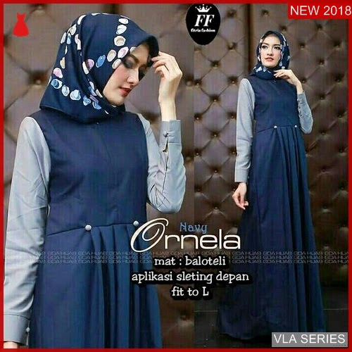 VLA112O91 Model Dress Ornela Ff Murah BMGShop
