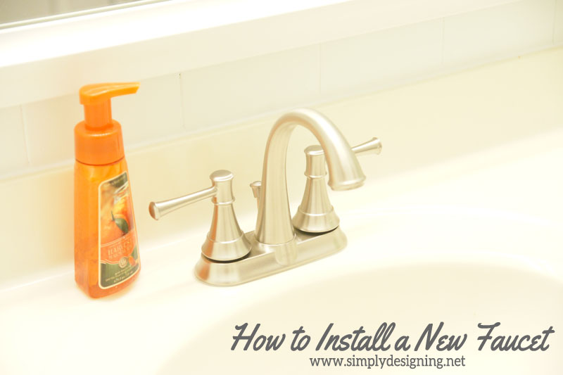 How to Install a New Sink Faucet | #diy #bathroom #bathroomremodel #remodel