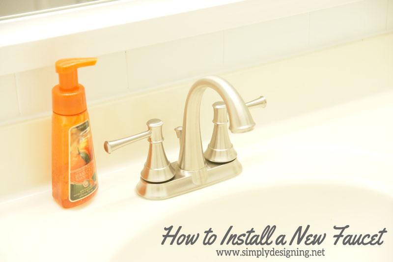 Cute How to Install a New Sink Faucet diy bathroom bathroomremodel remodel