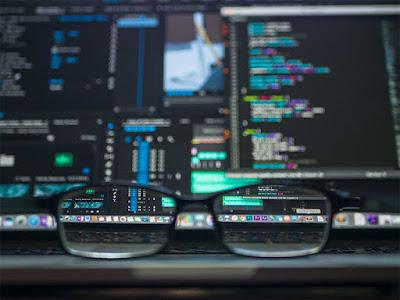 blur photo of computer screen