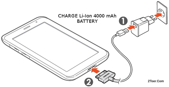 2Toer: Samsung Galaxy Tab 2 7 0 GT P3100 Insert SIM microSD Memory