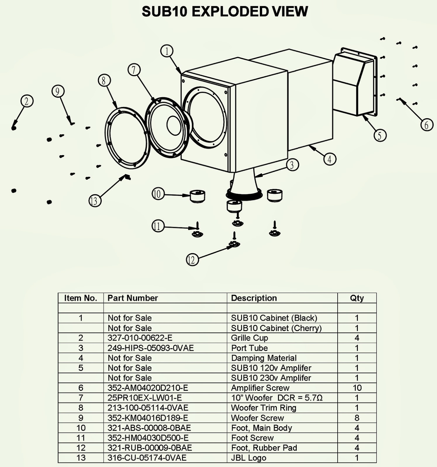 medium resolution of jbl sub 10 sub woofer schematic circuit diagram amp subwoofer jbl sub 10 sub