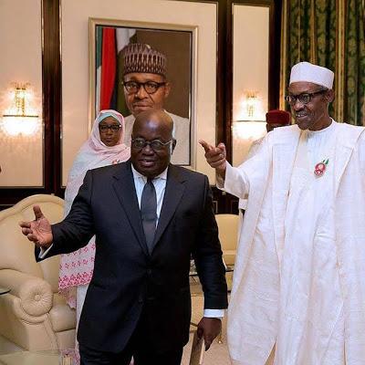 Photos: President Buhari receives Ghana President-elect, Nana Akufo-Addo at the state House, Abuja